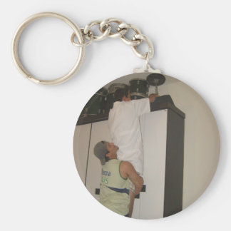 Security is Everything! Basic Round Button Keychain