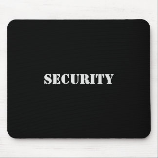 Security Mousepad-White Font Mouse Pad