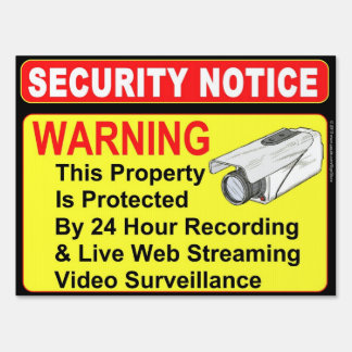 SECURITY Notice Surveillance Sign