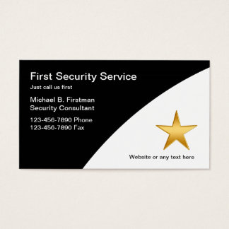 Security Service Business Cards