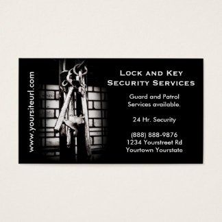 Security Services - Skeleton Key ring Business Card