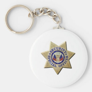 Security Special Officer Basic Round Button Keychain