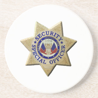 Security Special Officer Beverage Coaster