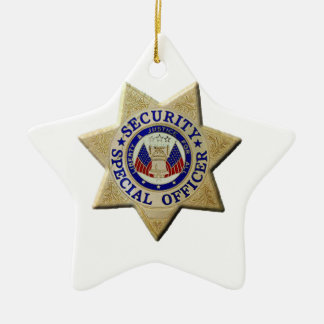 Security Special Officer Ceramic Ornament