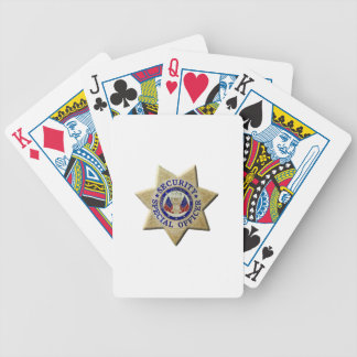 Security Special Officer Poker Deck