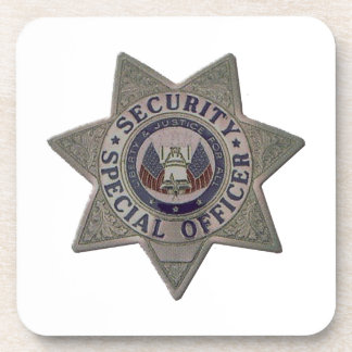 Security Special Officer Silver Coaster