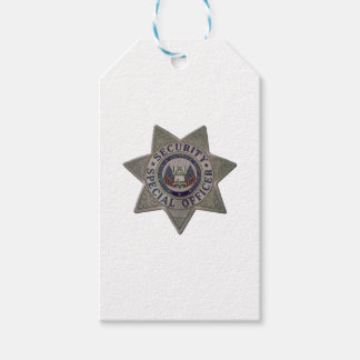 Security Special Officer Silver Gift Tags