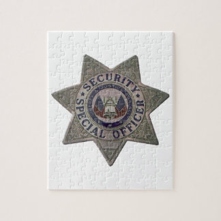 Security Special Officer Silver Jigsaw Puzzle