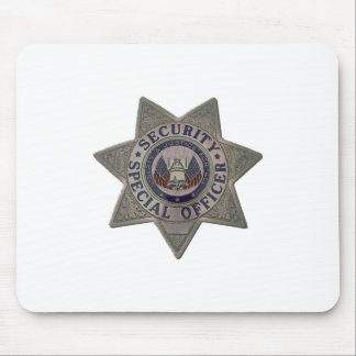 Security Special Officer Silver Mouse Pad