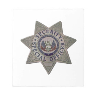 Security Special Officer Silver Notepad