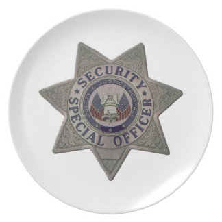 Security Special Officer Silver Plate