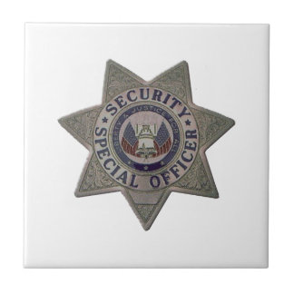Security Special Officer Silver Tile