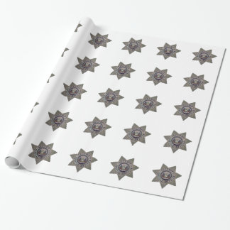 Security Special Officer Silver Wrapping Paper