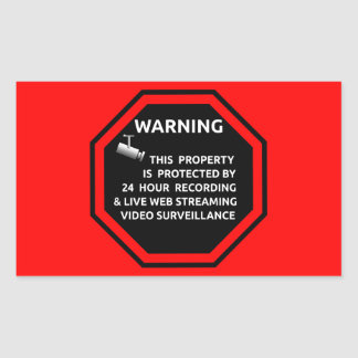 SECURITY STICKER SIGN WARNING SURVELLIENCE CAMERA