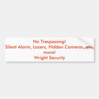 Security Stickers Bumper Sticker
