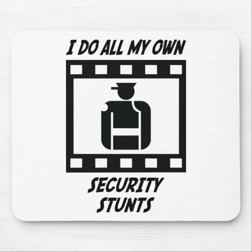Security Stunts Mouse Pad