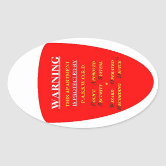 SECURITY SYSTEM WARNING OVAL STICKER