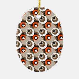 secutive ceramic oval ornament