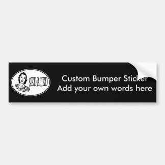 Sedated Retro Housewife Bumper Stickers