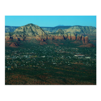 Sedona and Coffee Pot Rock from Above Postcard