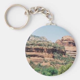 Sedona Area scene 07 Basic Round Button Keychain