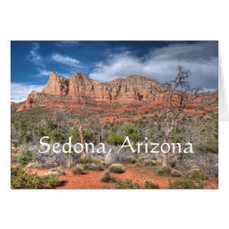 Sedona Arizona red rock landscape Card