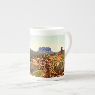 Sedona Cactus  Boulder Rocks China Coffee/Tea Cup