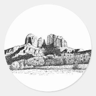 Sedona Classic Round Sticker