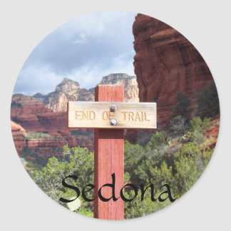 Sedona End of Trail Classic Round Sticker