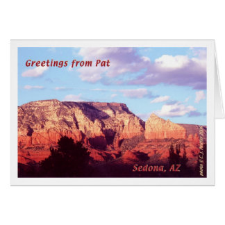 Sedona 'Greetings from Pat' Card