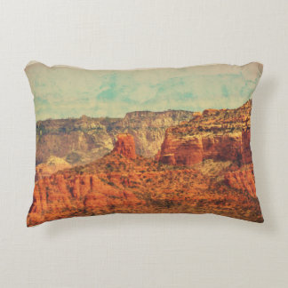 Sedona in Grunge Accent Throw Pillow