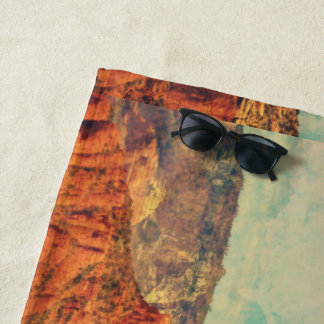 Sedona In Grunge Beach Towel