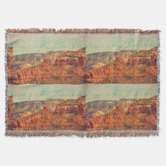 Sedona in Grunge Throw Blanket