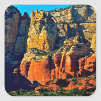Sedona Mountains Square Sticker