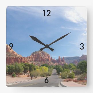 Sedona Red rocks Square Wall Clock
