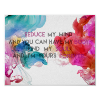 Seduce My Mind | Quote Poster