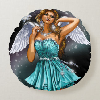 Seductive Fairy Round Pillow