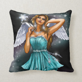 Seductive Fairy Throw Pillow