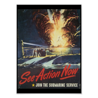See Action Now World War II Poster