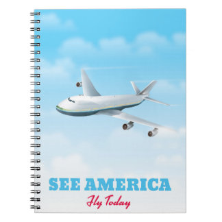 See America - Fly today! Spiral Notebook