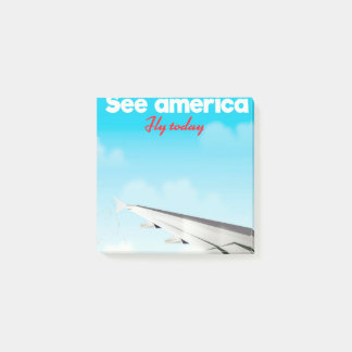 "See America ""fly today"" vintage vacation print. Post-it Notes"
