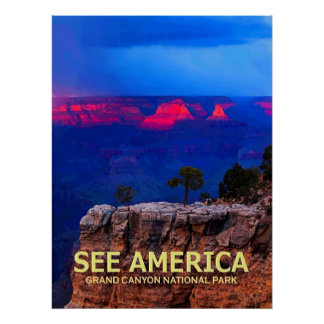 """""""See America"""" Grand Canyon National Park Poster"""