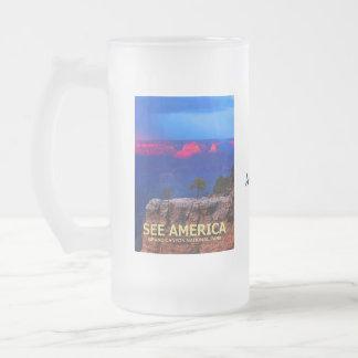 """See America"" Grand Canyon Nat'l Park Frosted Mug"