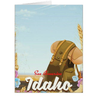 See America - Idaho Backpacking travel poster Card