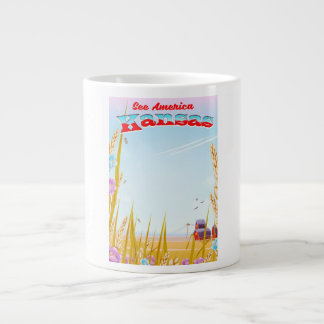 See America! - Kansas Large Coffee Mug