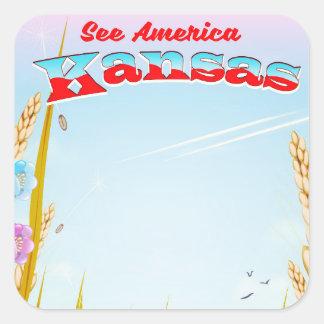 See America! - Kansas Square Sticker