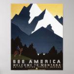 See America-Montana Poster