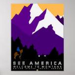 See America Montana Poster