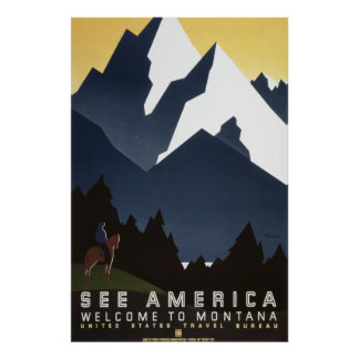 See America: Montana Poster