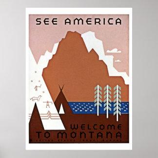 See America, Montana WPA travel Poster